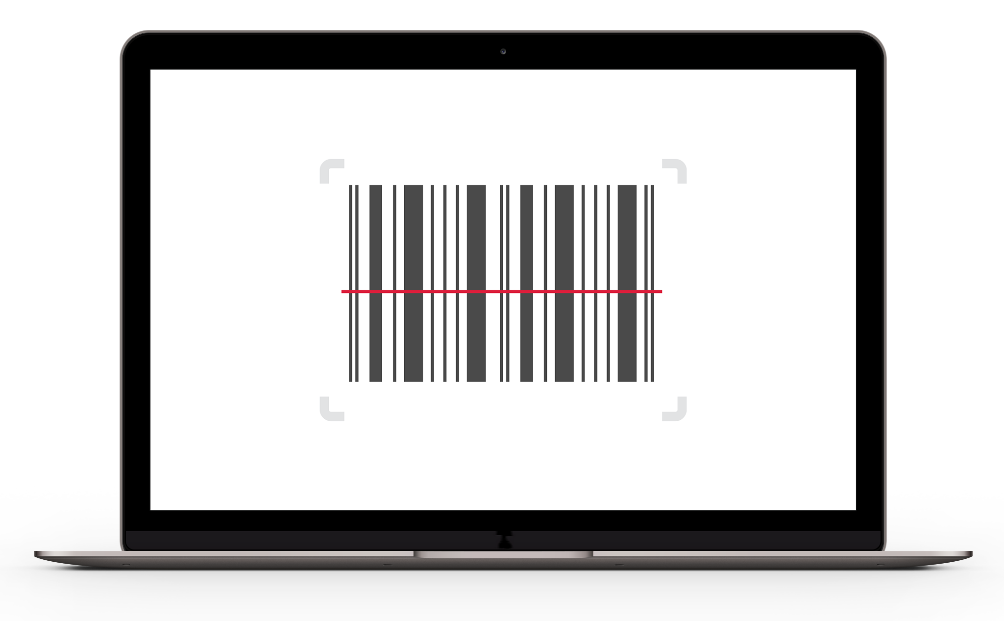 Phone Illustration with Barcode on screen and two products
